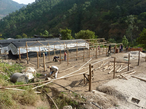 Tissue Culture House Construction, Bhutan